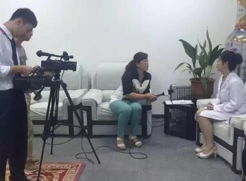 费主任接受CCTV记者采访现场